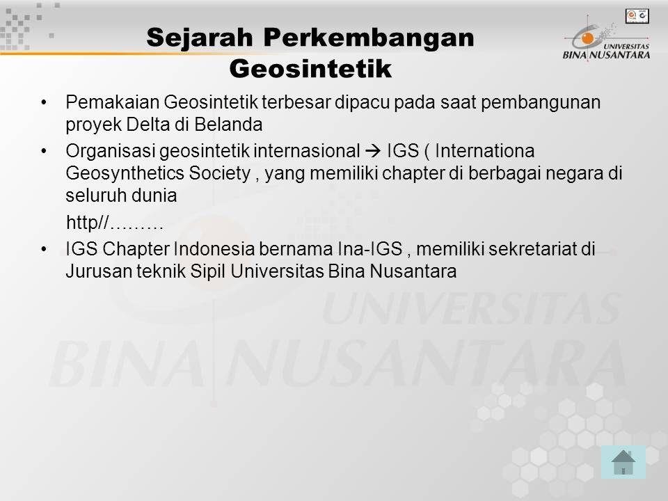 Sejarah Perkembangan Geosintetik
