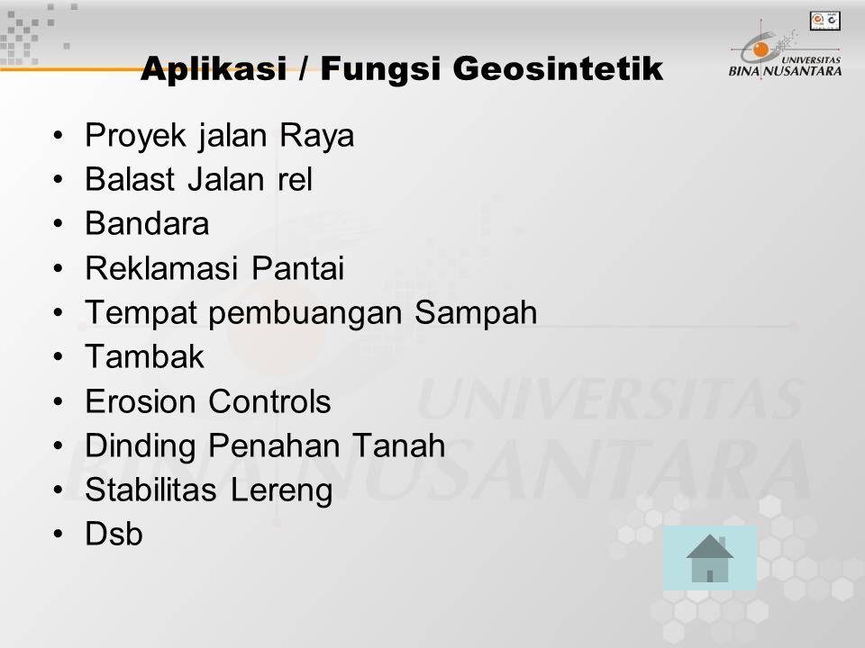 Aplikasi / Fungsi Geosintetik
