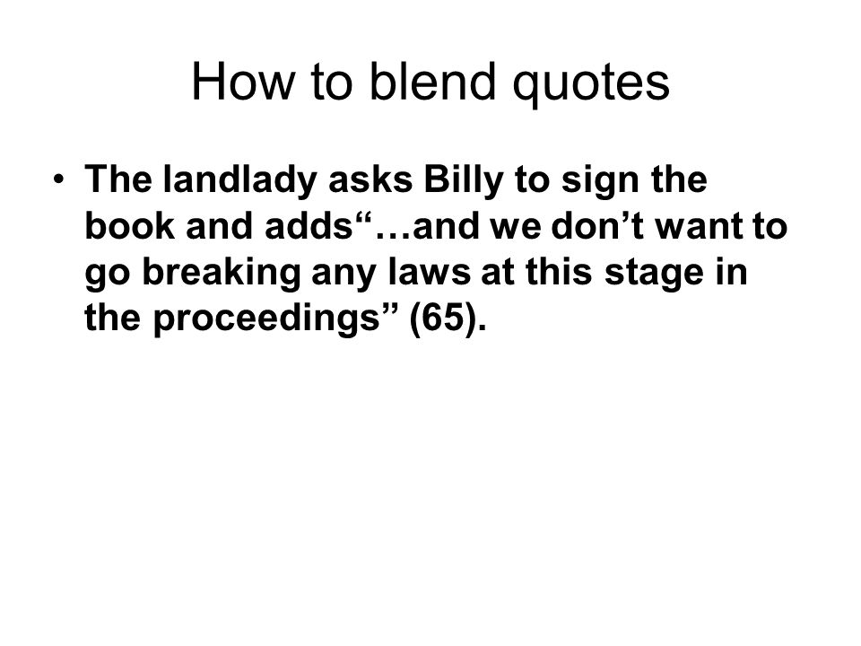 How to blend quotes