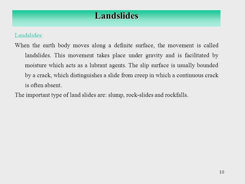 Landslides Landslides: