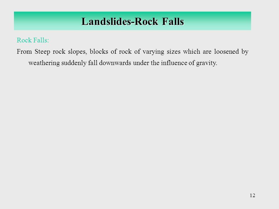 Landslides-Rock Falls