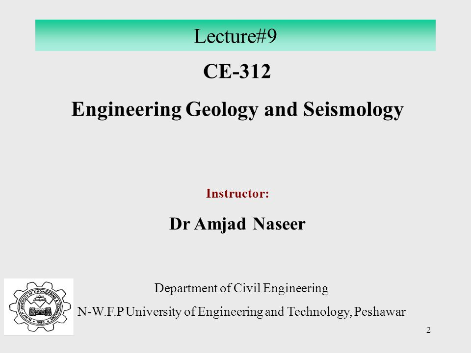 Engineering Geology and Seismology