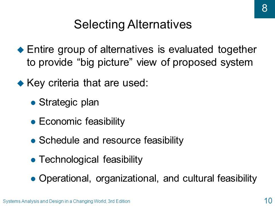 Selecting Alternatives