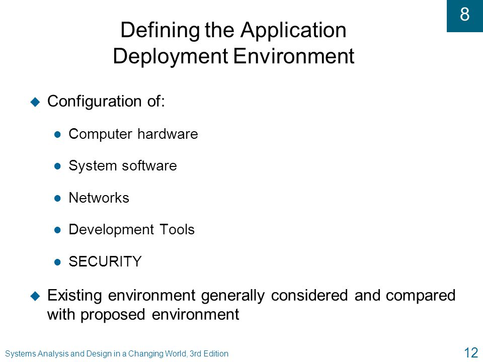 Defining the Application Deployment Environment
