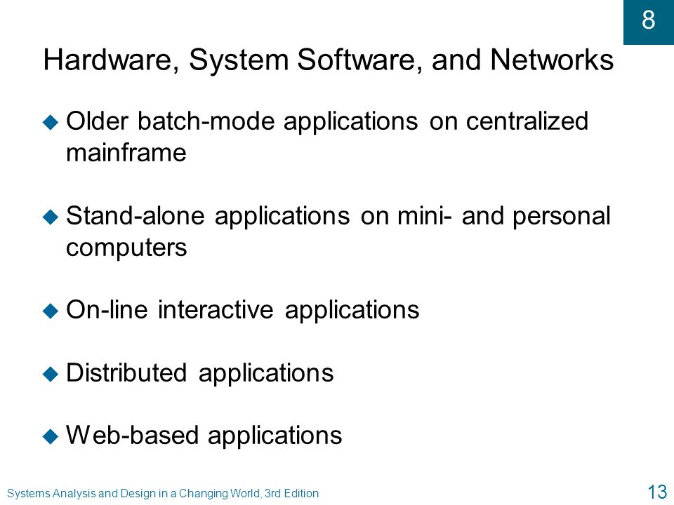 Hardware, System Software, and Networks