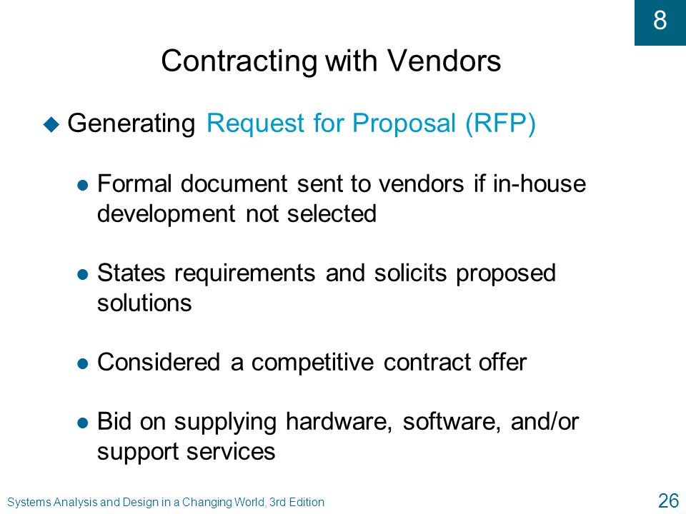 Contracting with Vendors