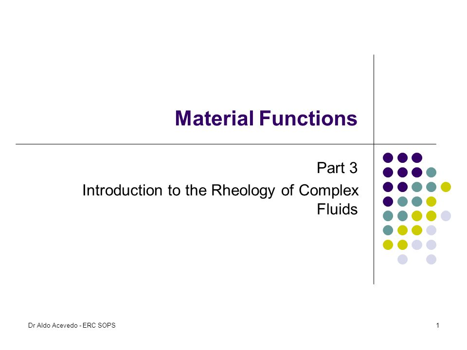 Part 3 Introduction to the Rheology of Complex Fluids