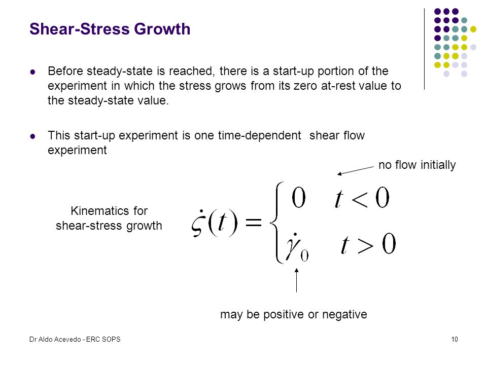 Kinematics for shear-stress growth