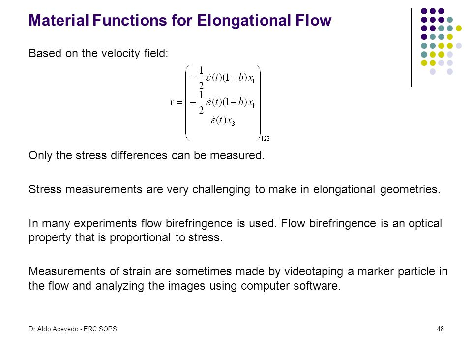 Material Functions for Elongational Flow