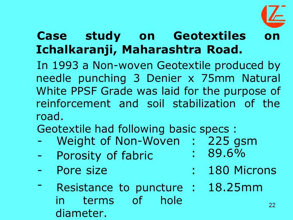 Case study on Geotextiles on Ichalkaranji, Maharashtra Road.