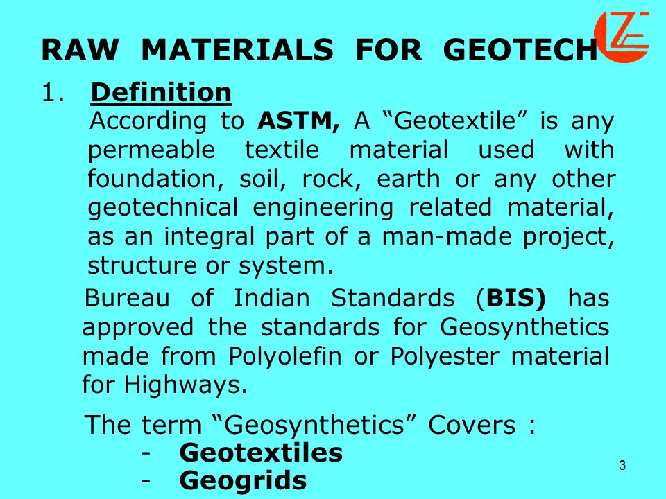 Raw materials for geotech ppt download for Bureau hindi meaning