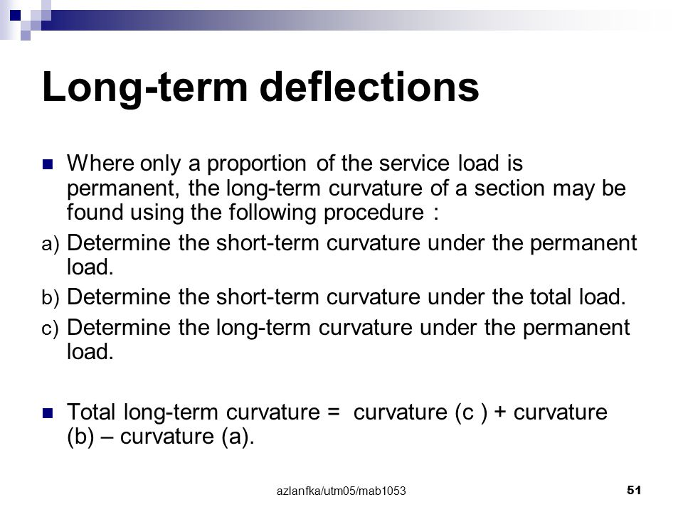 Long-term deflections