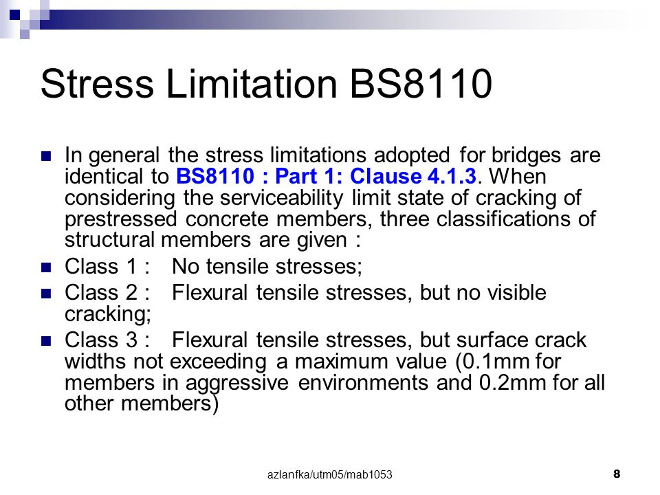 Stress Limitation BS8110