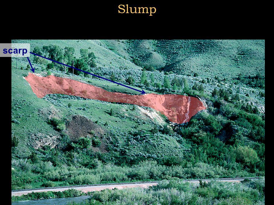 Slump scarp