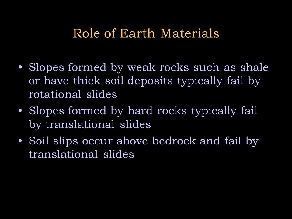 Role of Earth Materials