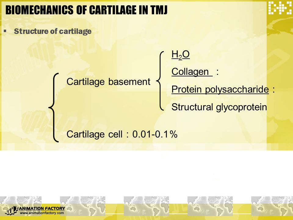 BIOMECHANICS OF CARTILAGE IN TMJ