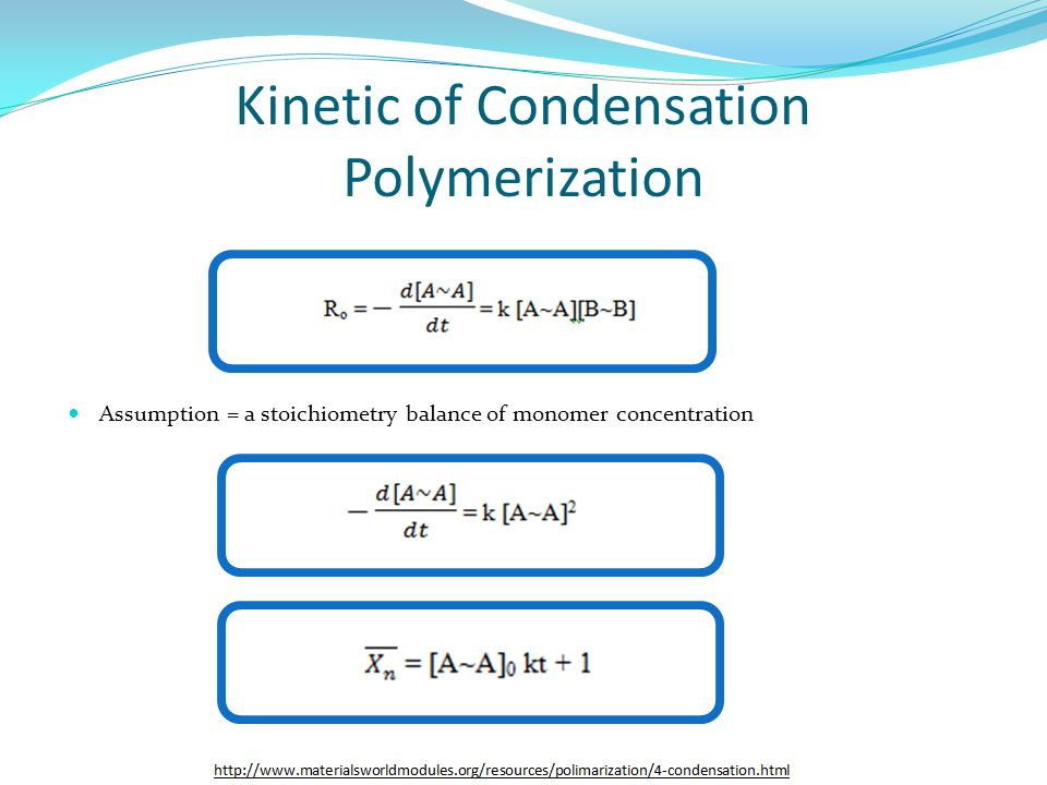 Kinetic of Condensation Polymerization
