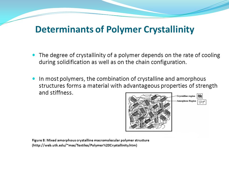 Determinants of Polymer Crystallinity