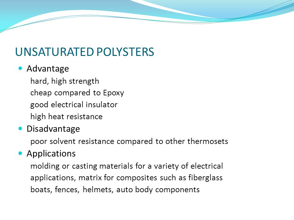 UNSATURATED POLYSTERS