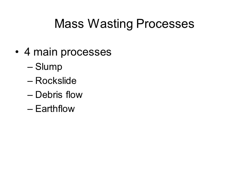 Mass Wasting Processes
