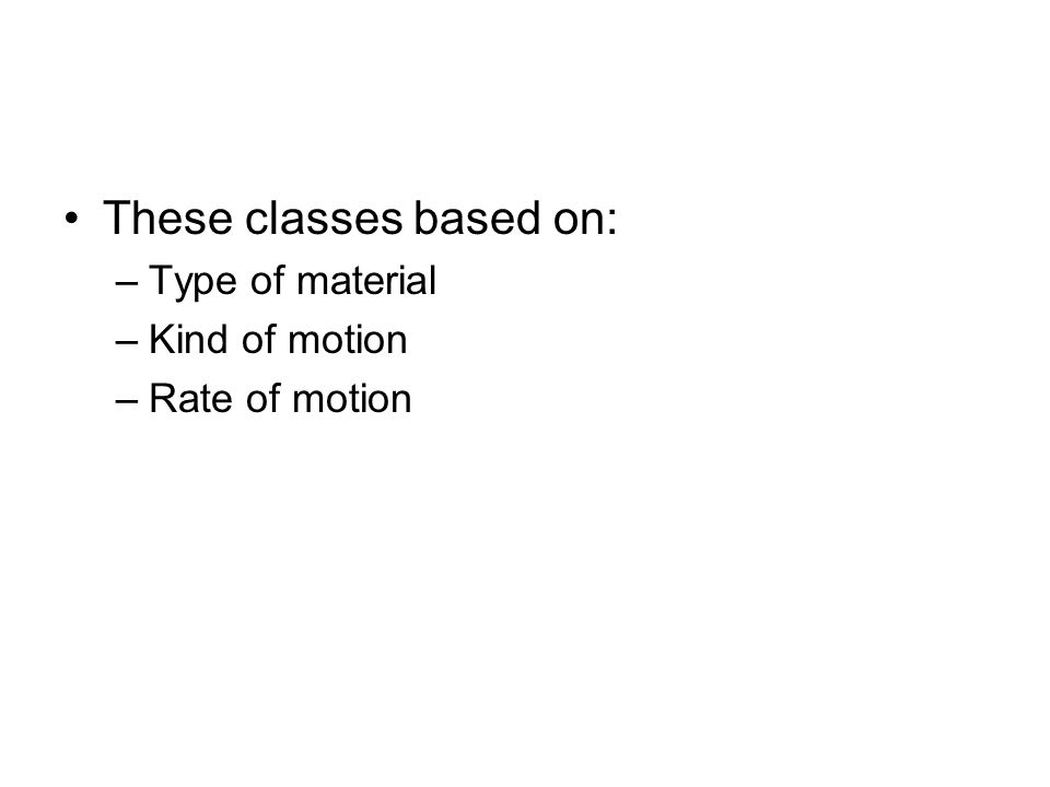 These classes based on: