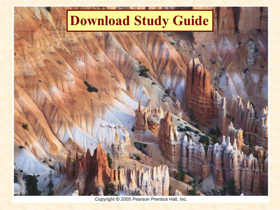 geology study guide one