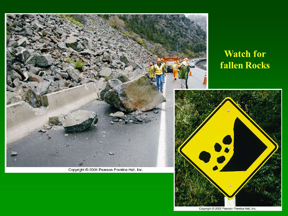 Watch for fallen Rocks