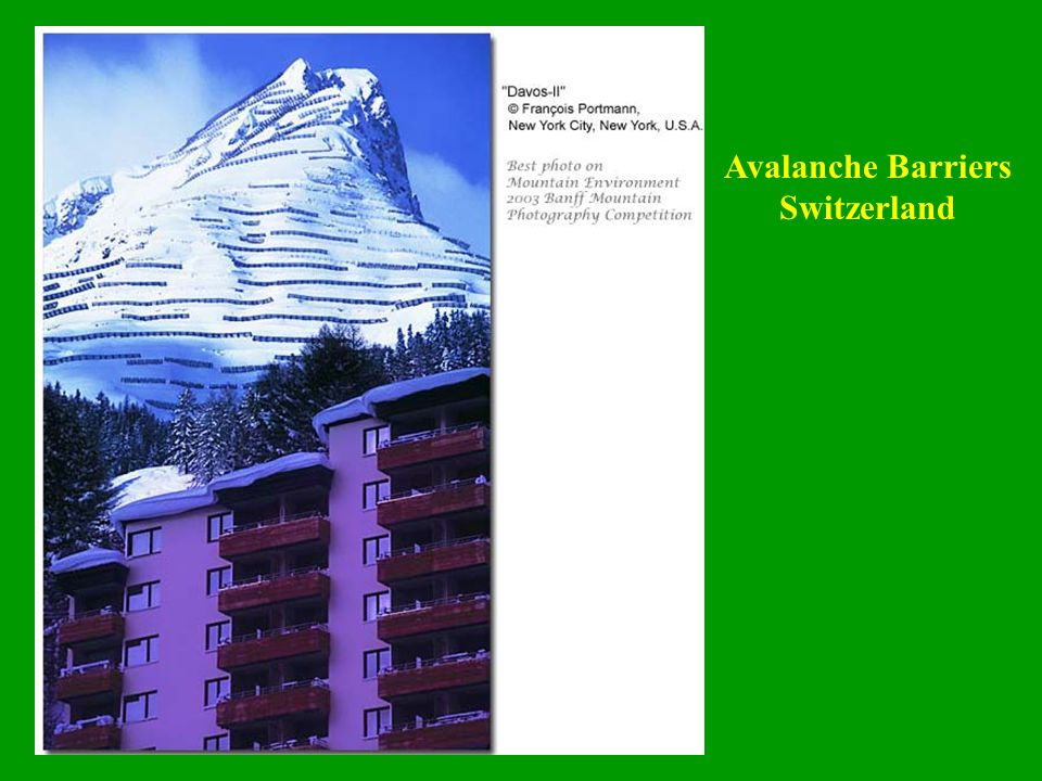 Avalanche Barriers Switzerland