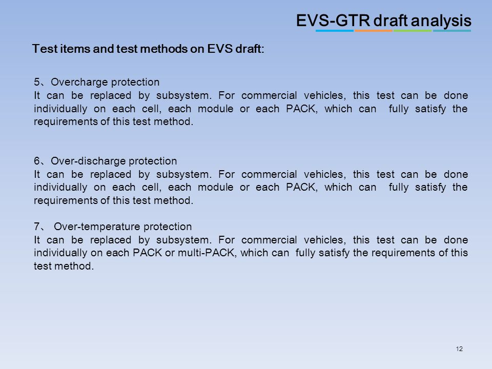 EVS-GTR draft analysis
