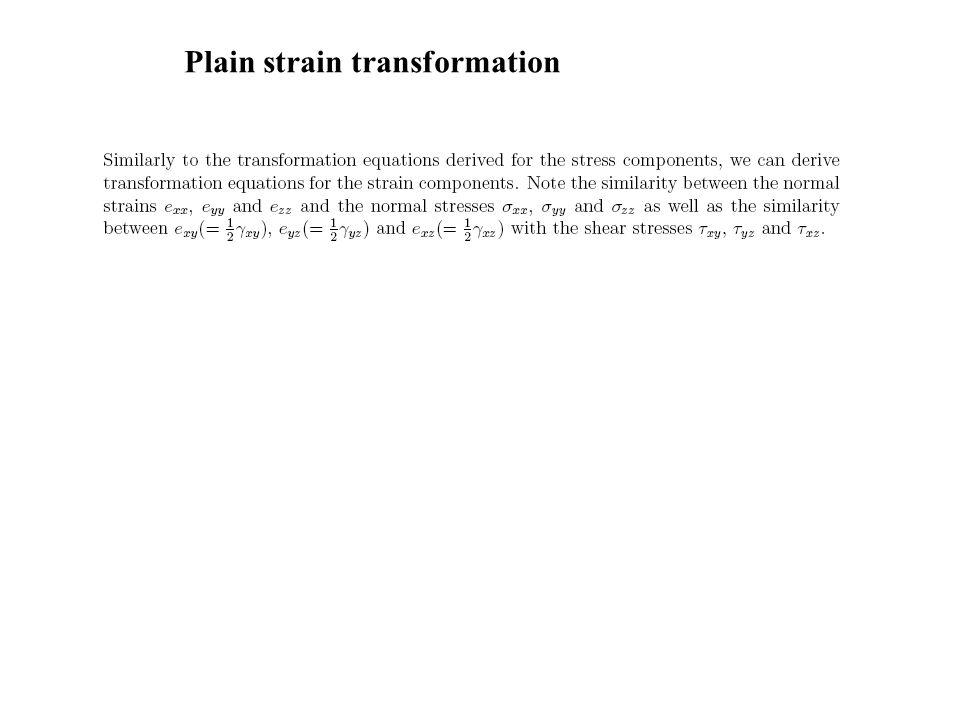 Plain strain transformation