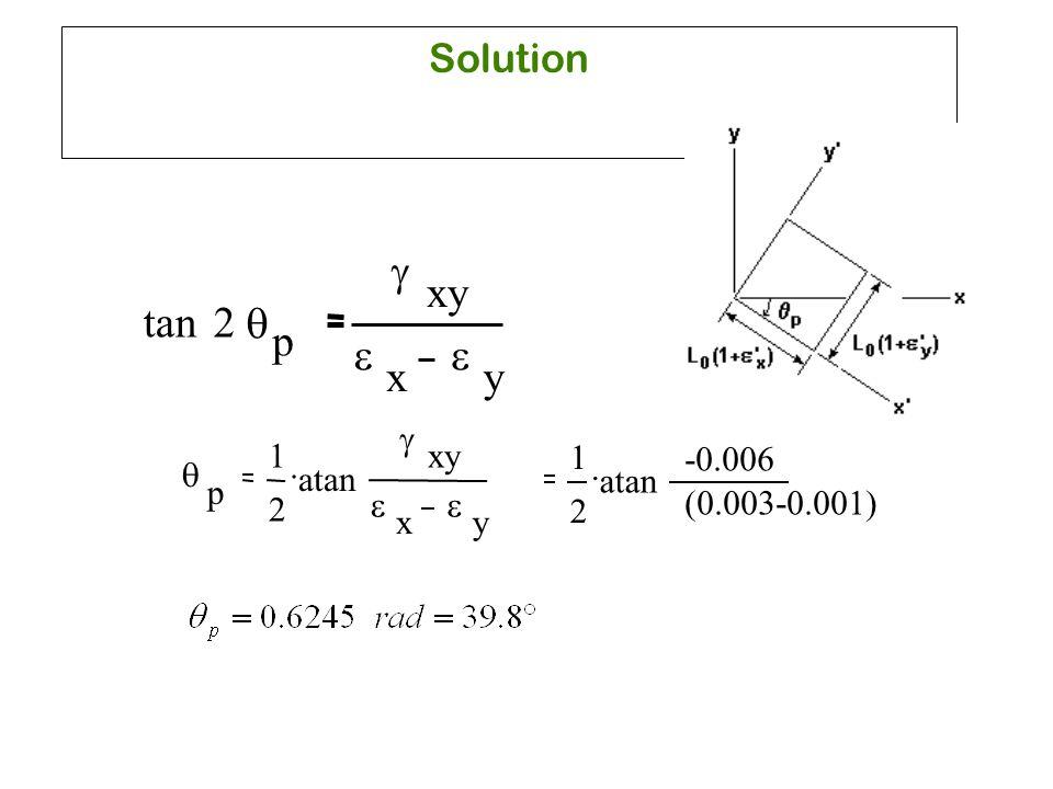 g xy tan 2 q p e e x y Solution g 1 xy 1 -0.006 . . q atan atan p