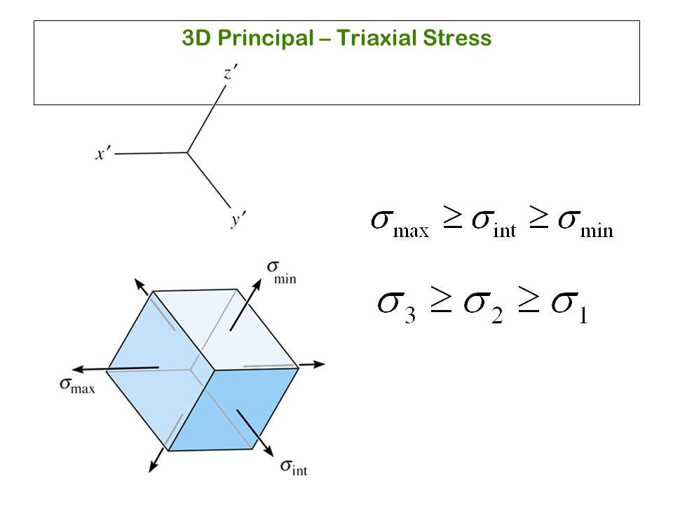3D Principal – Triaxial Stress