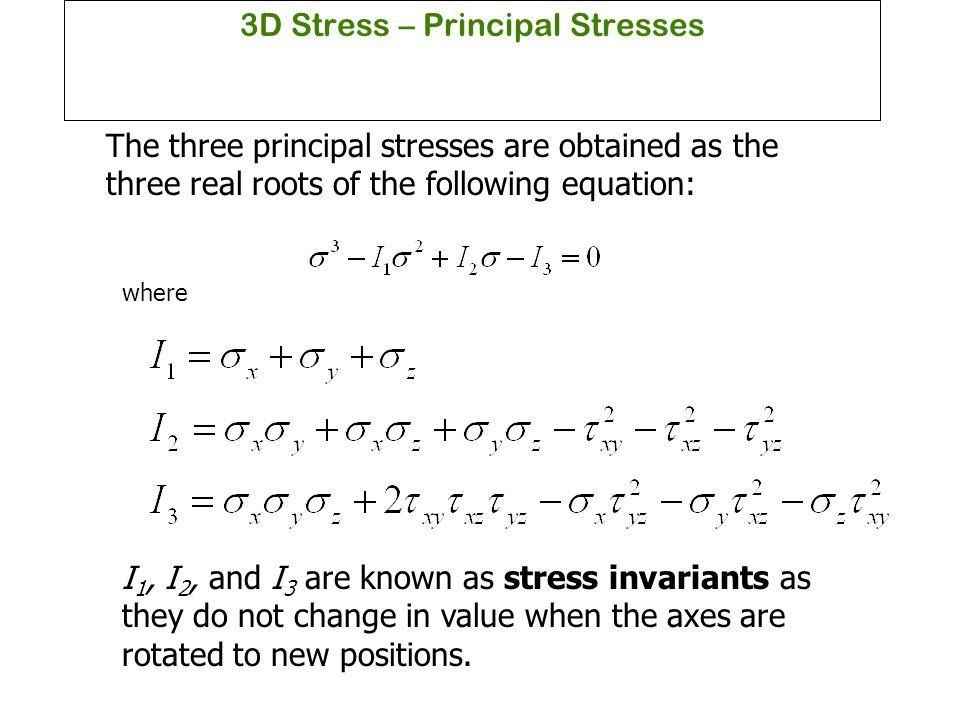 3D Stress – Principal Stresses