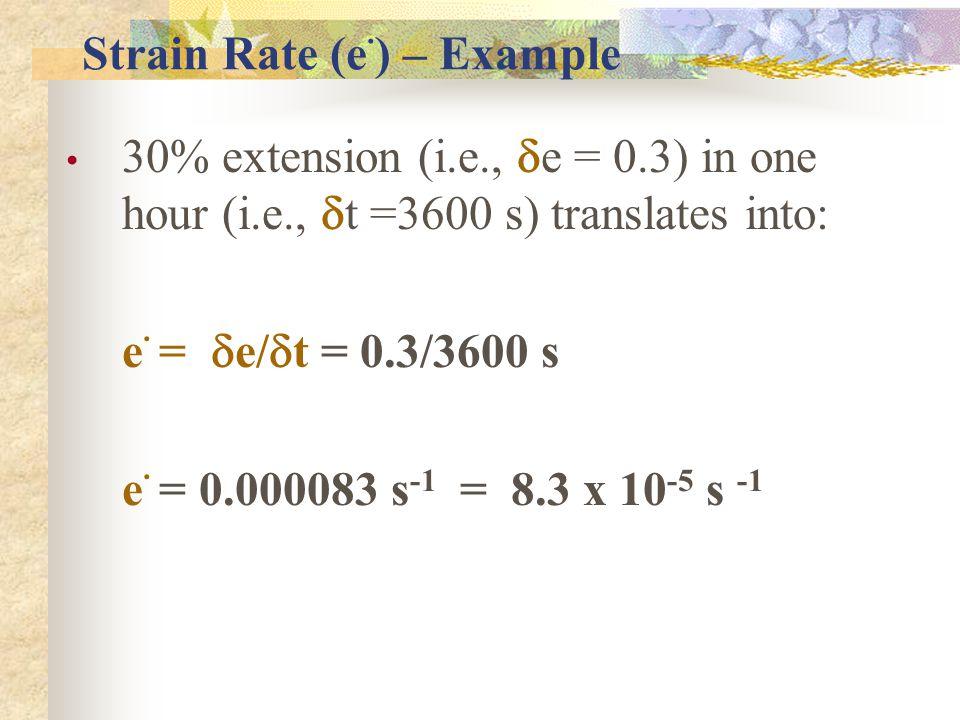 Strain Rate (e.) – Example