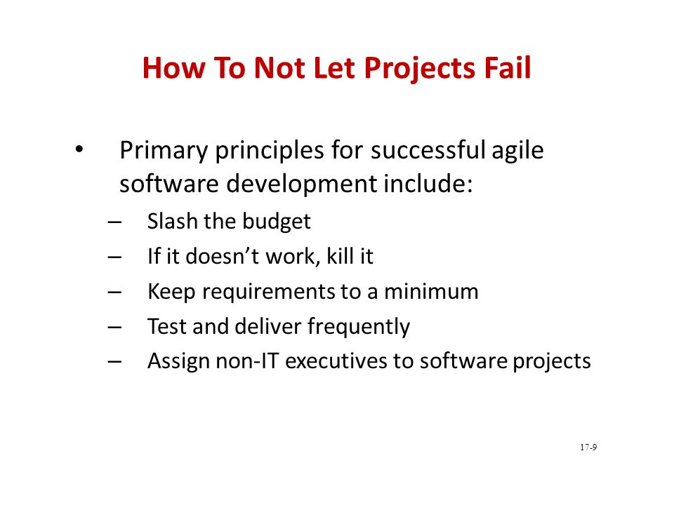 How To Not Let Projects Fail