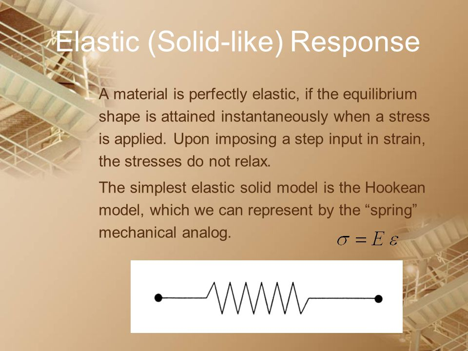 Elastic (Solid-like) Response