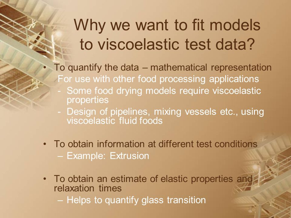 Why we want to fit models to viscoelastic test data