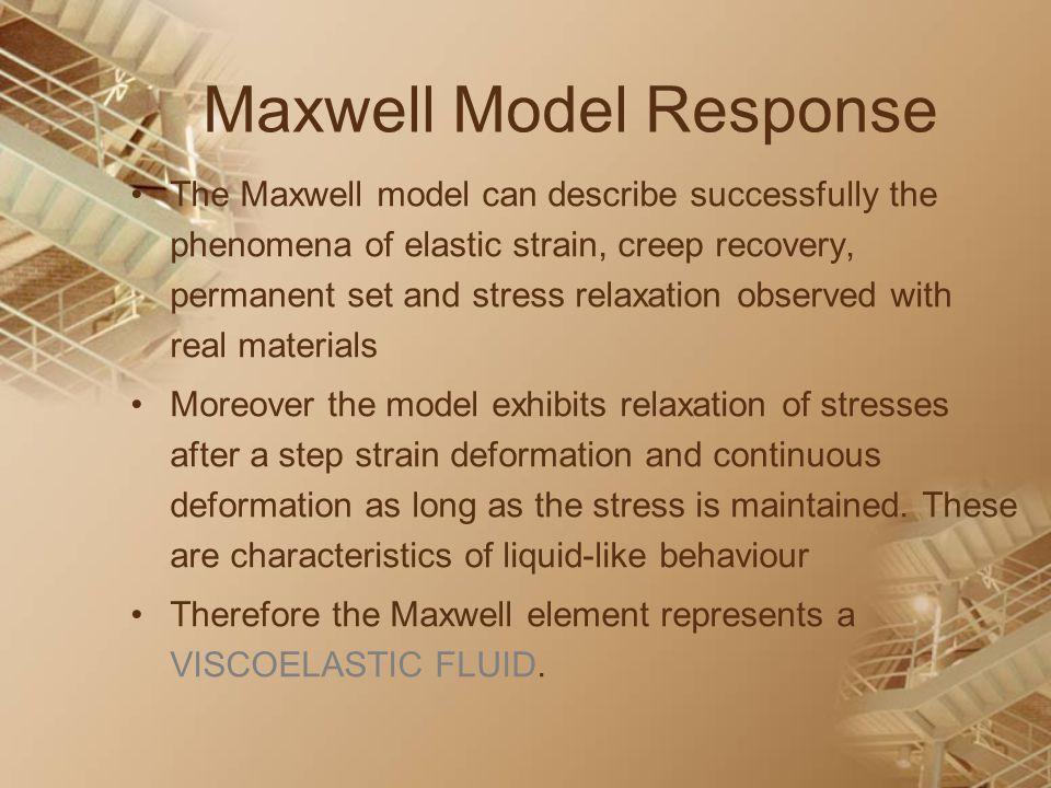 Maxwell Model Response