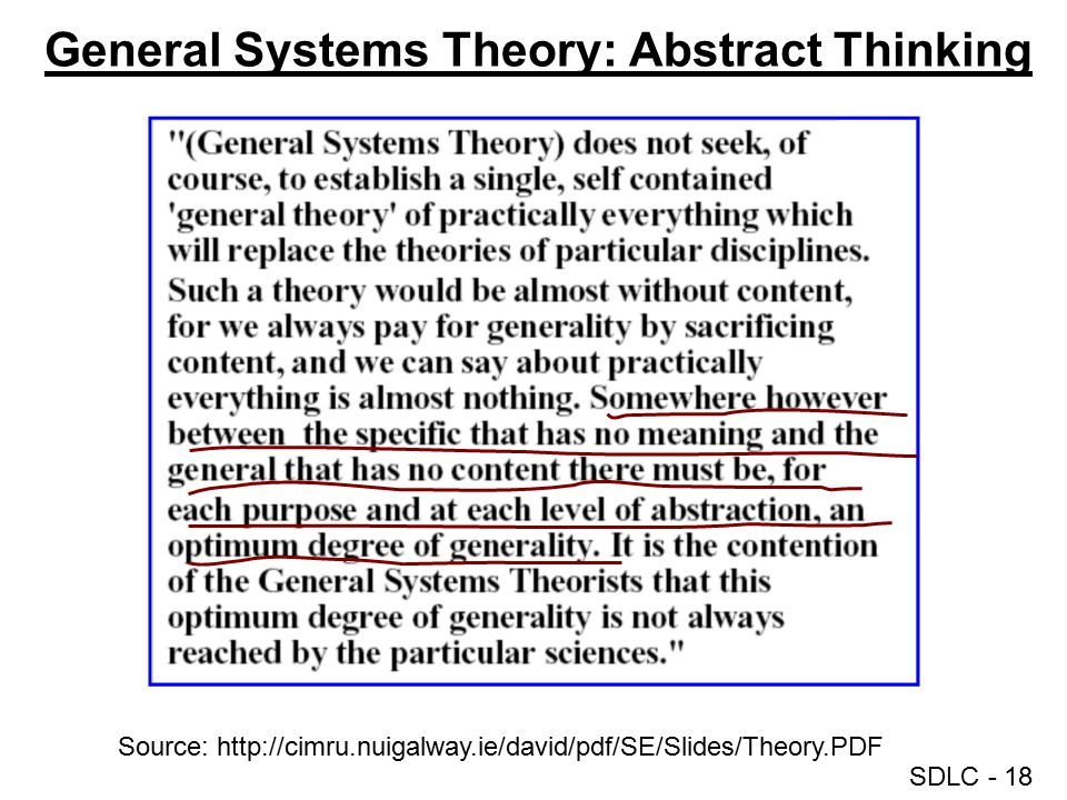 General Systems Theory: Abstract Thinking