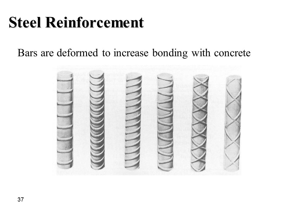 Steel Reinforcement Bars are deformed to increase bonding with concrete