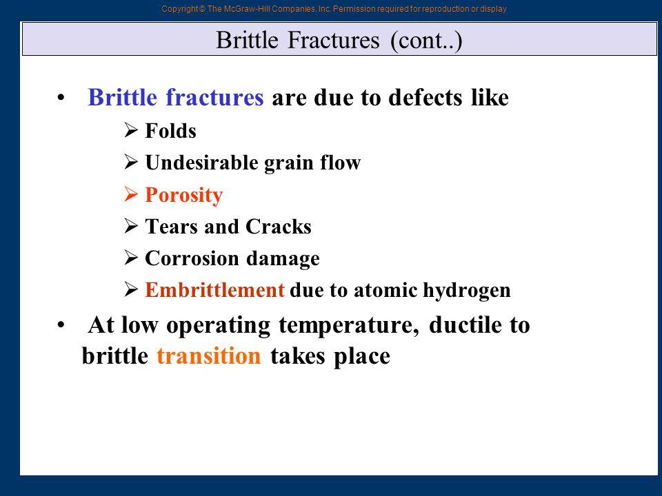 Brittle Fractures (cont..)