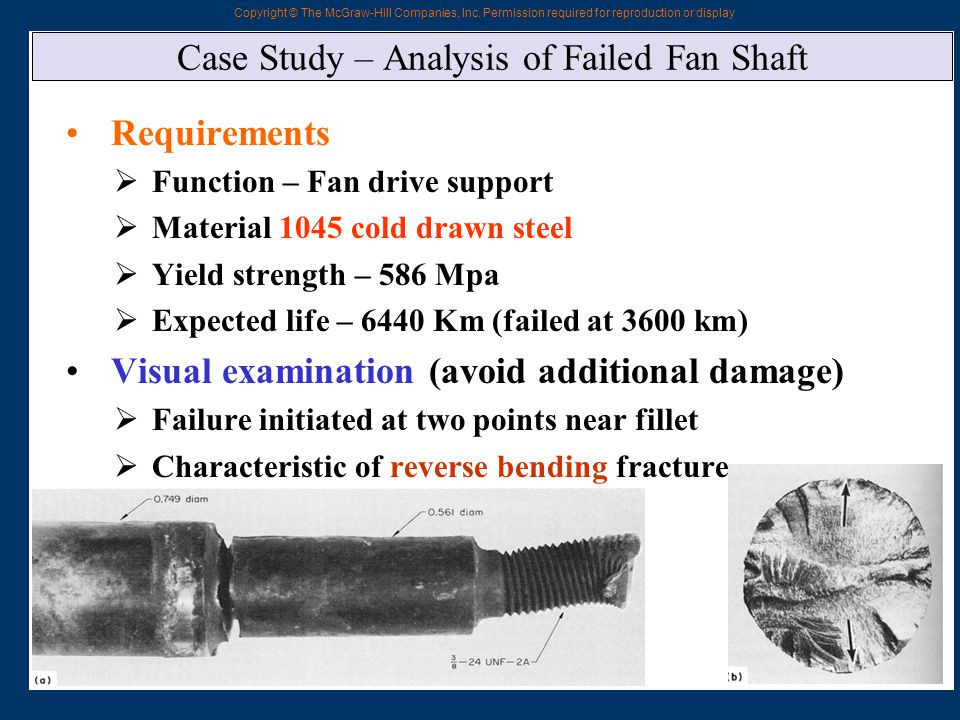 Case Study – Analysis of Failed Fan Shaft