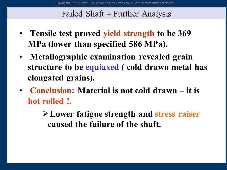 Failed Shaft – Further Analysis