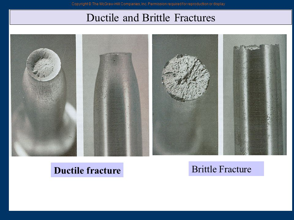 Ductile and Brittle Fractures