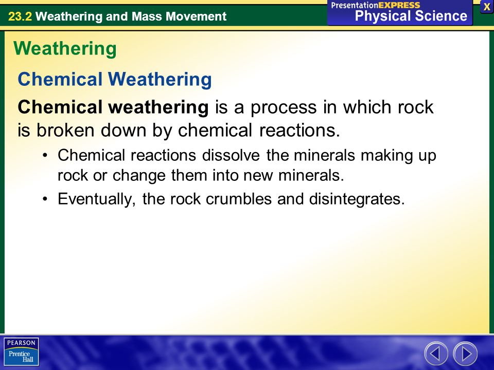 Weathering Chemical Weathering