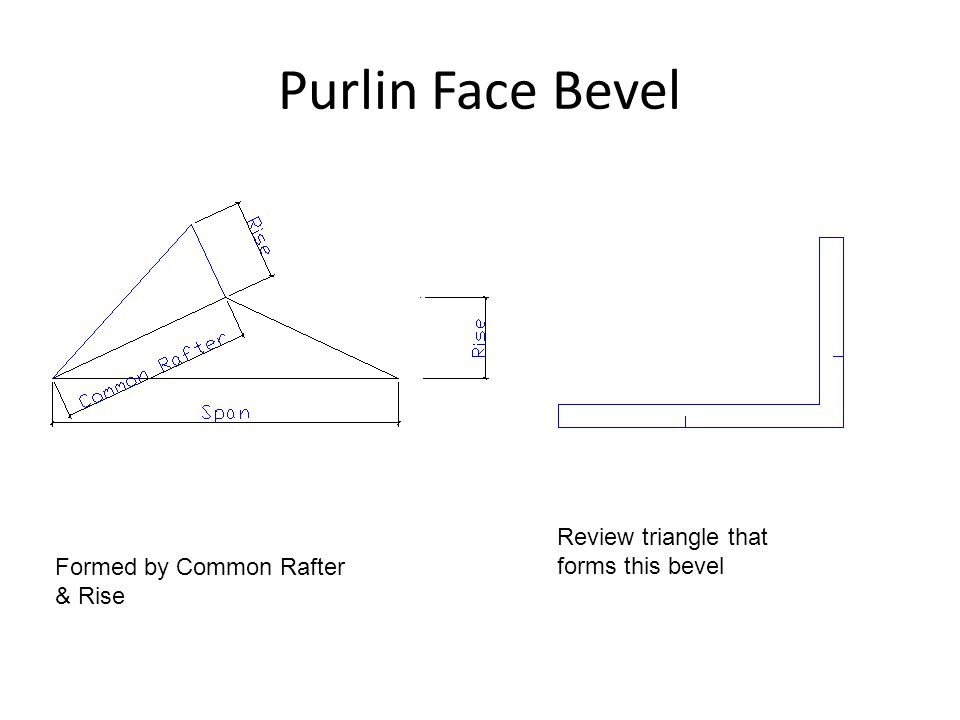 Purlin Face Bevel Review triangle that forms this bevel