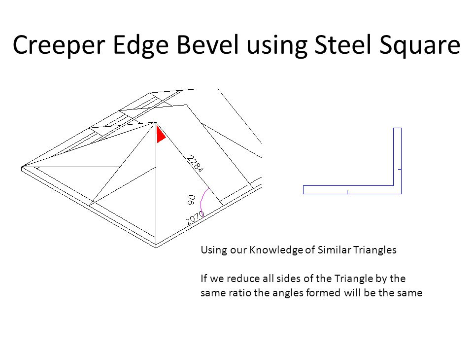 Creeper Edge Bevel using Steel Square