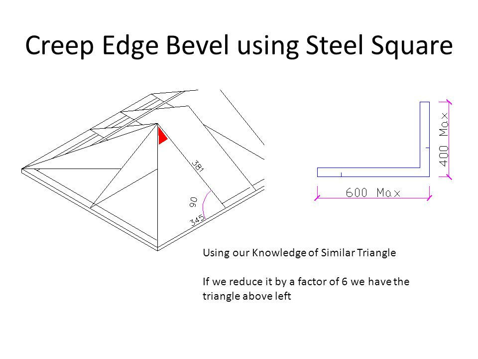 Creep Edge Bevel using Steel Square