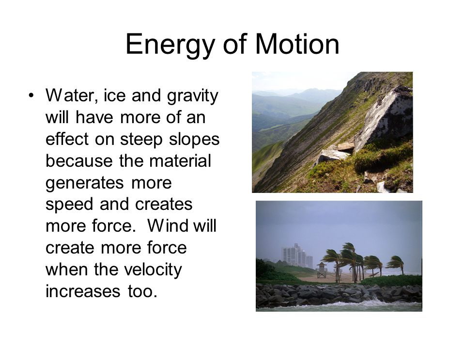 Energy of Motion
