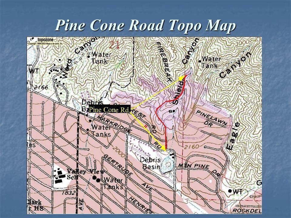 Pine Cone Road Topo Map